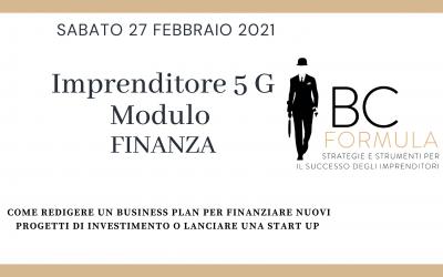 """Evento 27.02.2021 """"Imprenditore 5G""""  Modulo Finanza"""